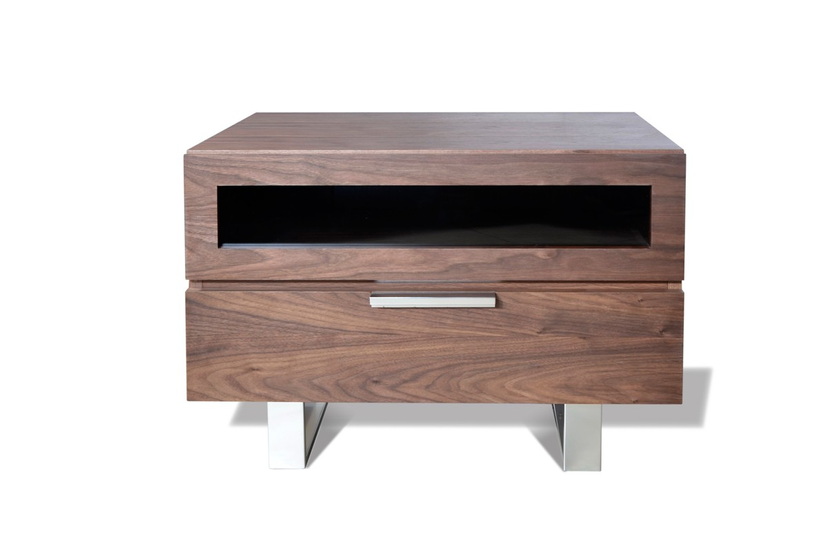 Modrest Dylan Modern Walnut Nightstand ...