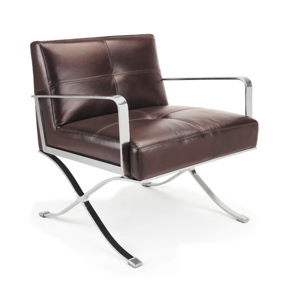 Divani casa ec 011 modern leather lounge chair for Modern leather club chairs