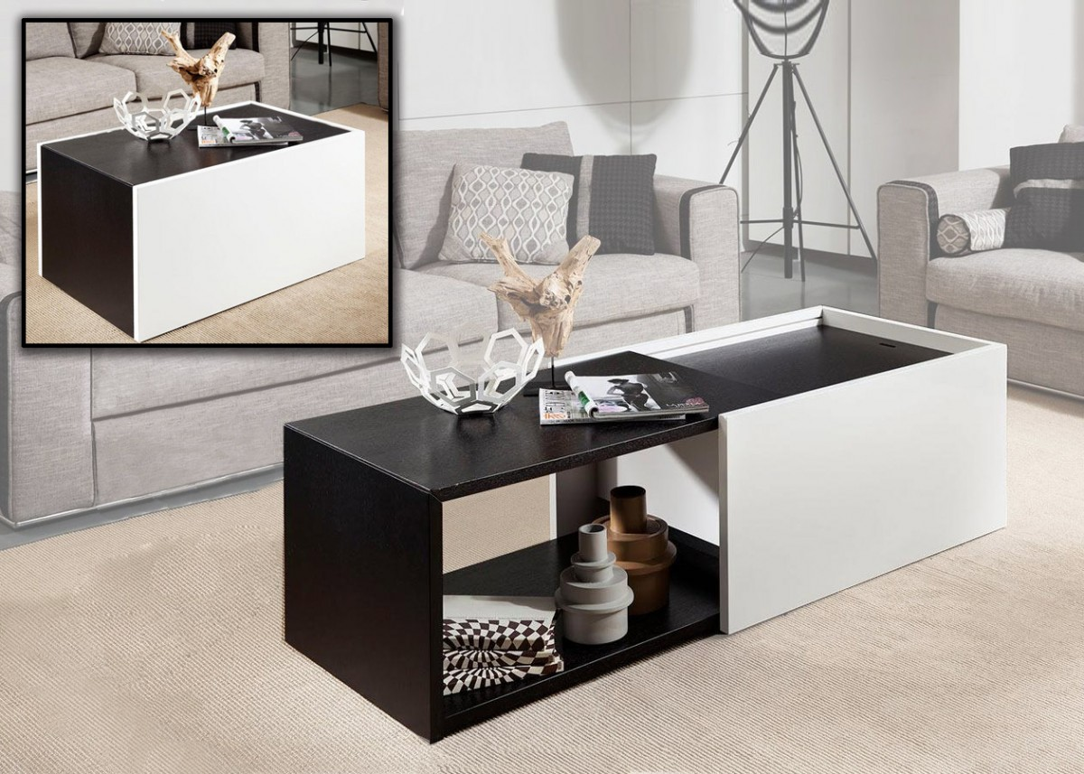 Modrest Elixir - Modern Two Tone Coffee Table - Coffee Tables ...