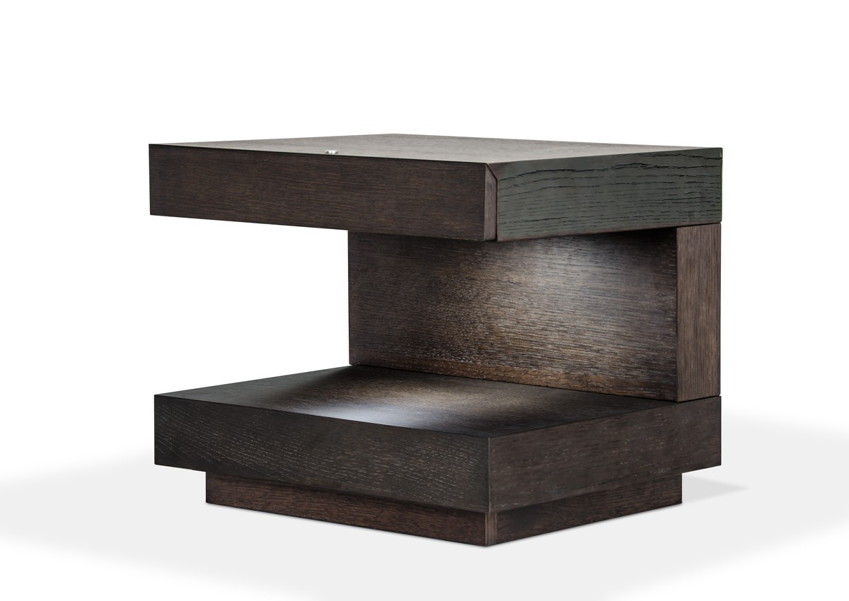 Esso Modern Brown Oak Nightstand