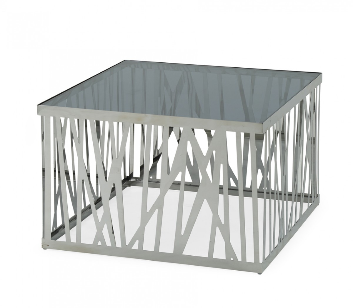 Modrest Bamboo Contemporary Stainless Steel End Table