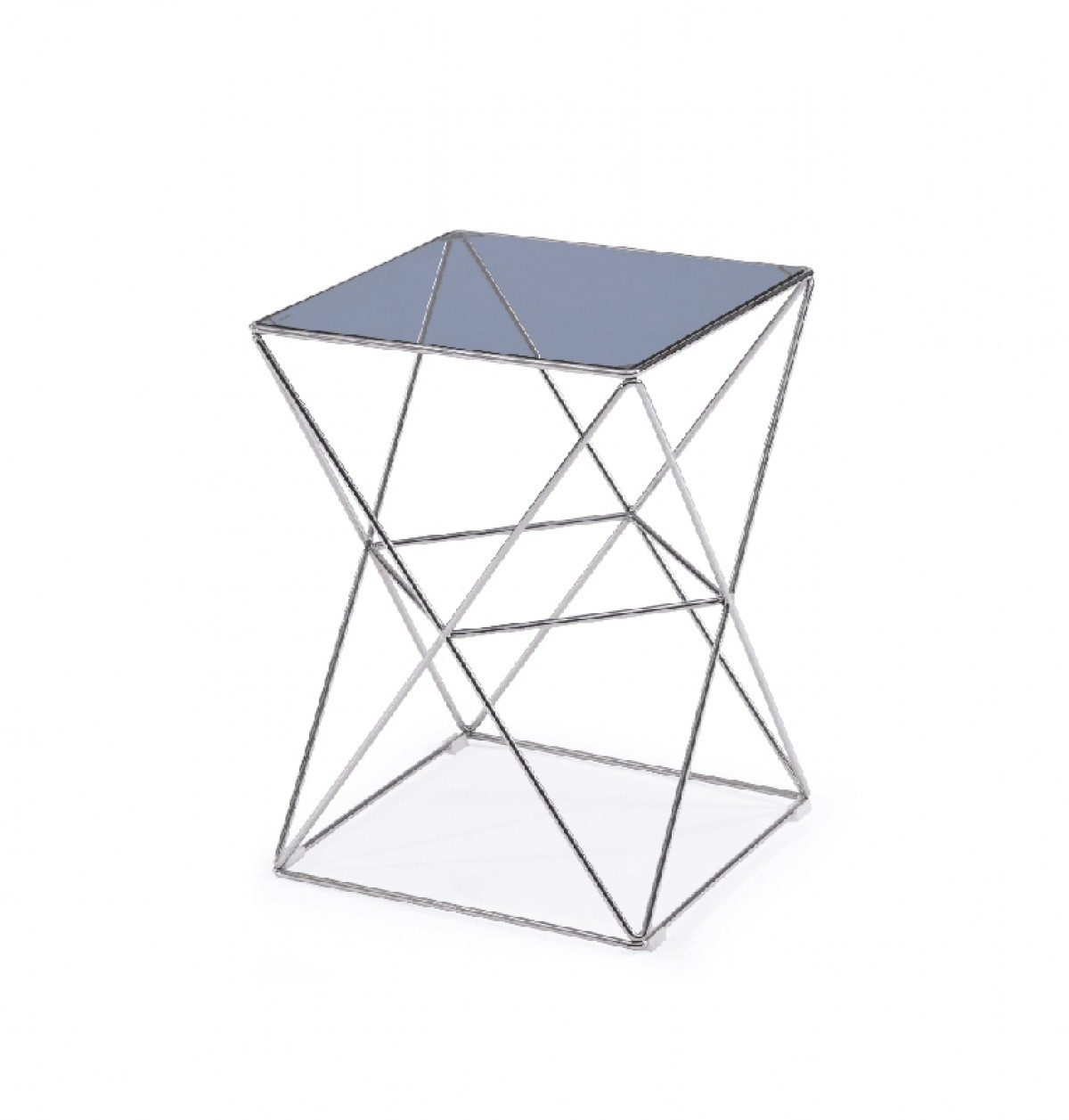 Modrest Laser Contemporary Smoked Glass End Table