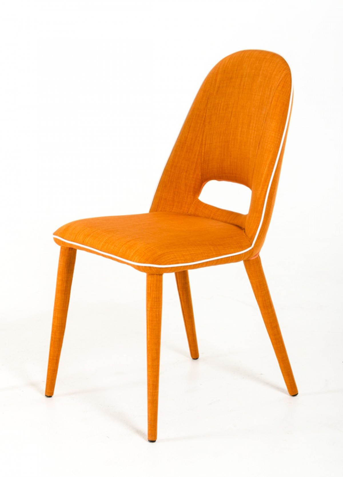 eugene modern orange fabric dining chair set of 2
