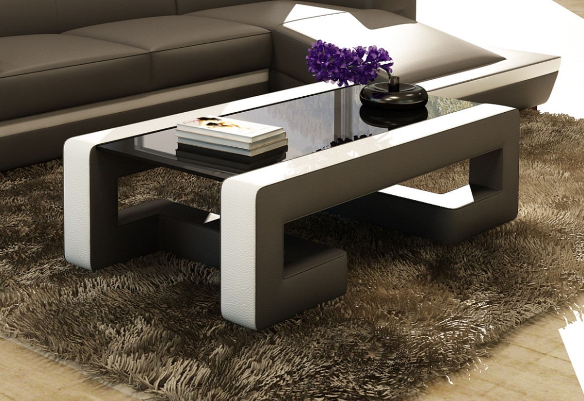 Casa ev45 modern bonded leather coffee table divani casa ev45 modern bonded leather coffee table geotapseo Gallery