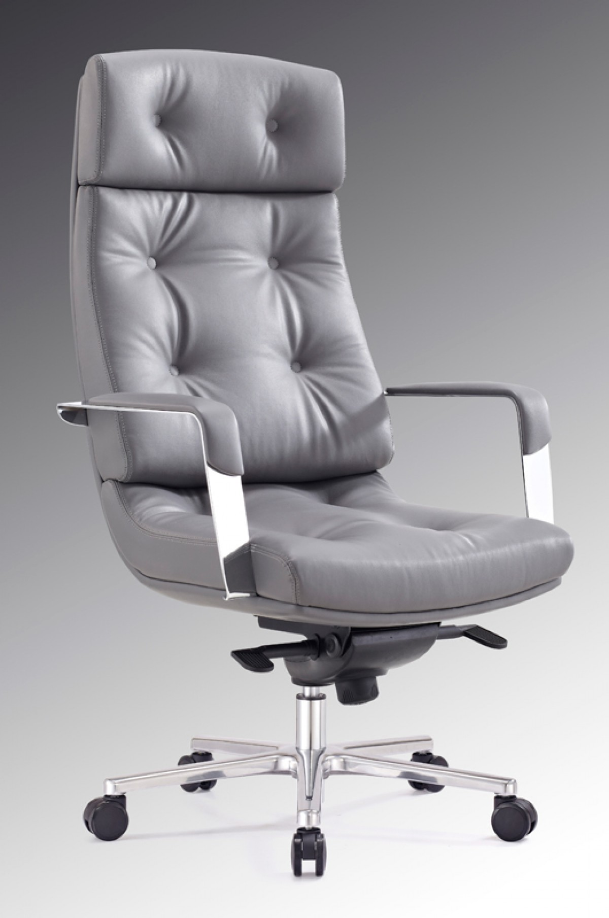 High Office Chairs modrest forbes modern grey high-back office chair - office chairs