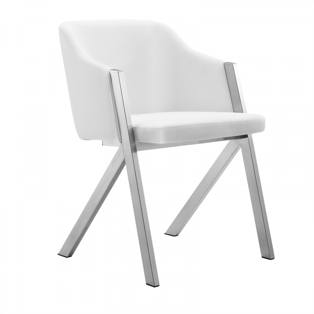 Prime Modrest Darcy Modern White Leatherette Dining Chair Set Of 2 Ibusinesslaw Wood Chair Design Ideas Ibusinesslaworg
