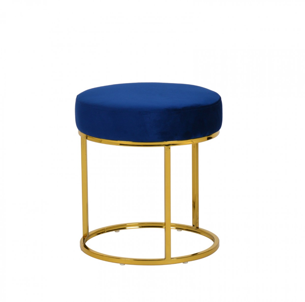 Brilliant Modrest Elmont Modern Blue Velvet Gold Stool Ottoman Pdpeps Interior Chair Design Pdpepsorg