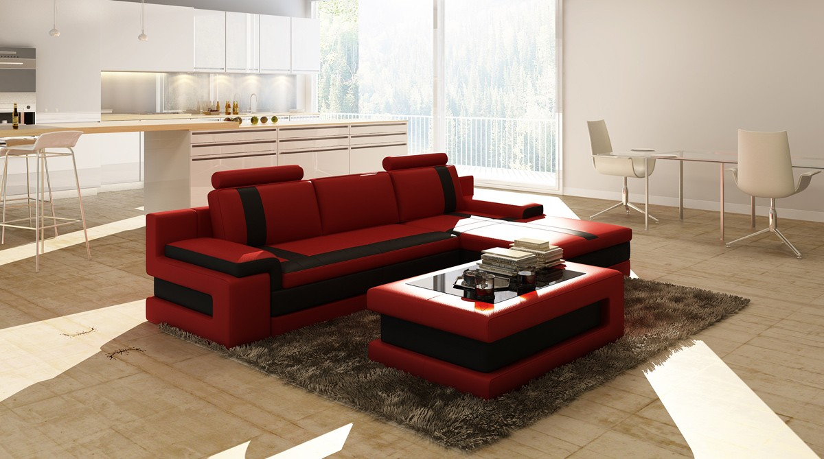 B And B Divani.Divani Casa 5083c Modern Bonded Leather Sectional Sofa Special