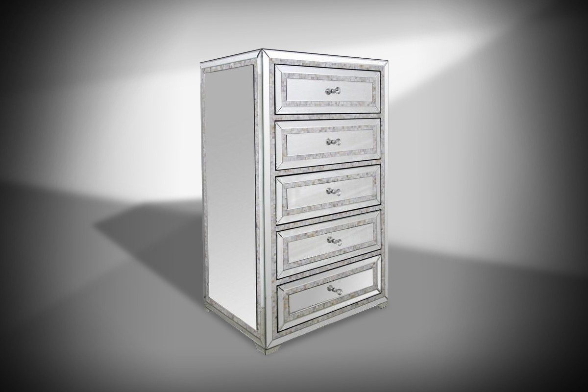 Modrest Mirabelle Mirrored Chest Chests Bedroom