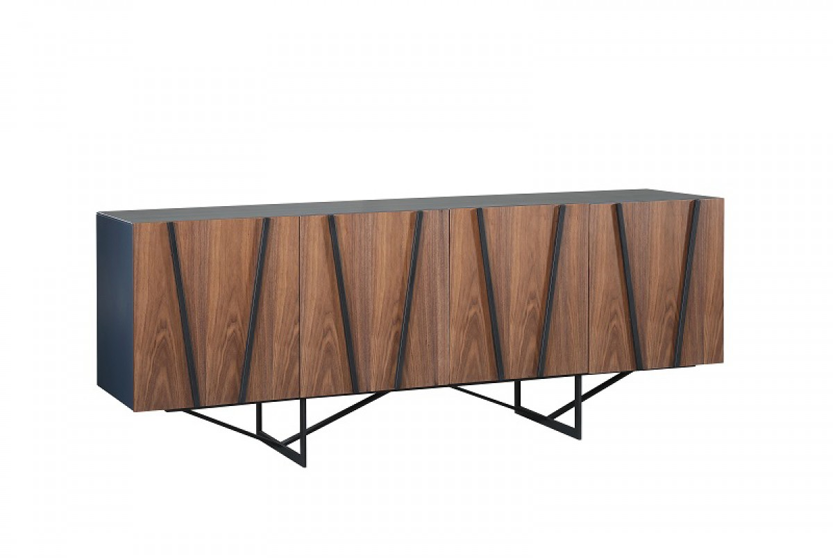 Home Dining Buffets Modrest Strand Modern Walnut & Grey Buffet. Full resolution  picture, nominally Width 1200 Height 804 pixels, picture with #865E45.