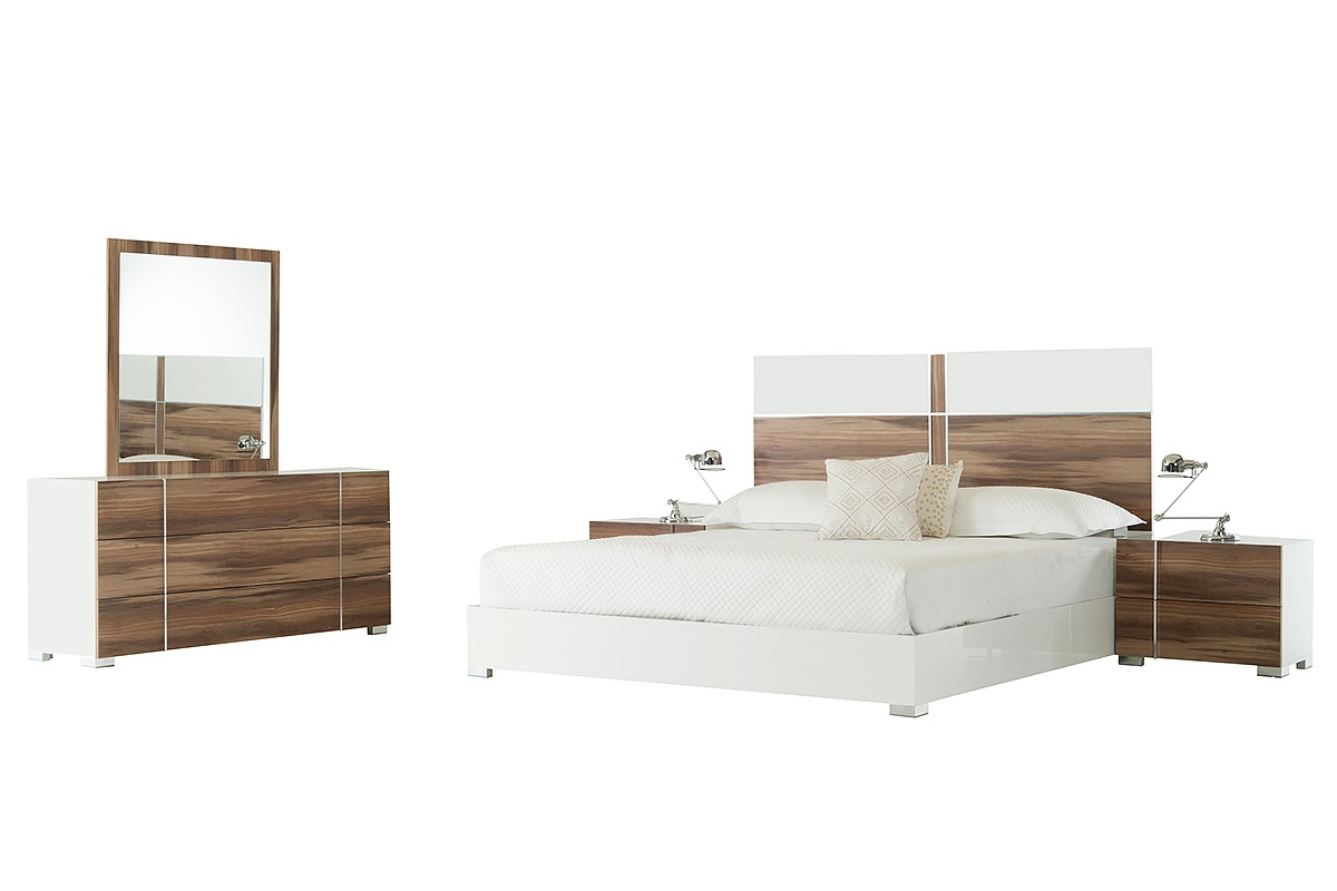 Nova Domus Giovanna Italian Modern White Cherry Bedroom