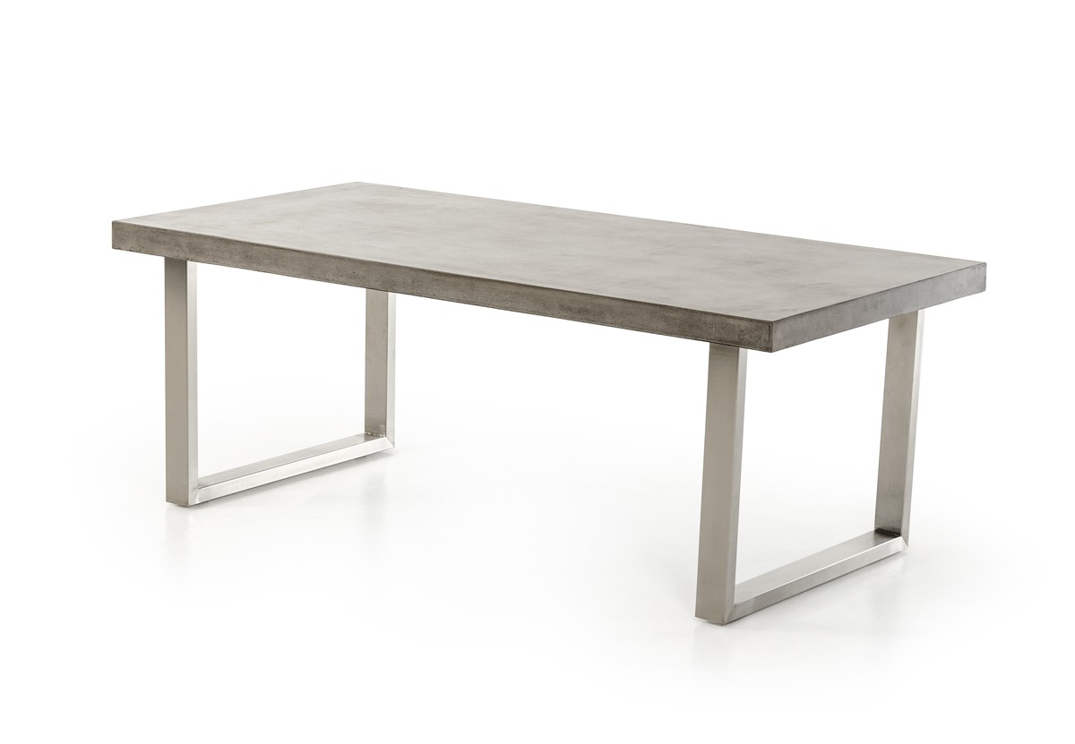 Modrest Mear Modern Concrete Dining Table Modern Dining