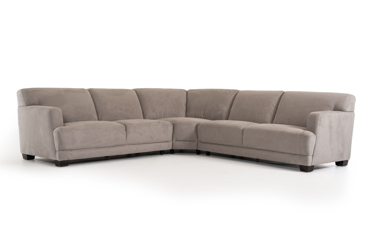 Divani Casa Harlan Modern Grey Fabric Sectional Sofa