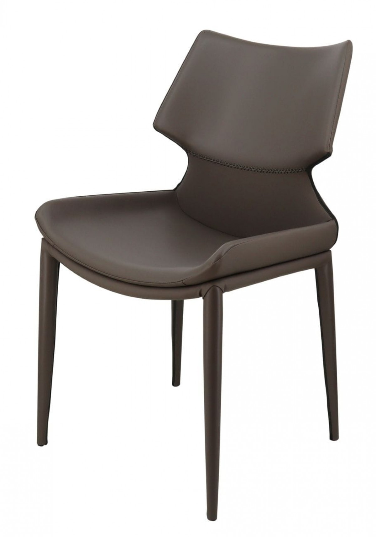 Modrest Helwig Contemporary Grey Eco-Leather Dining Chair ...