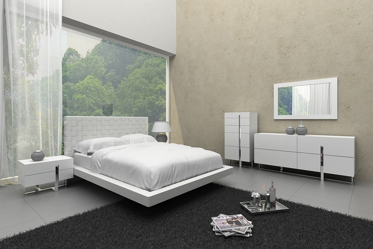 room to go furniture modrest voco modern white leatherette bed 16989