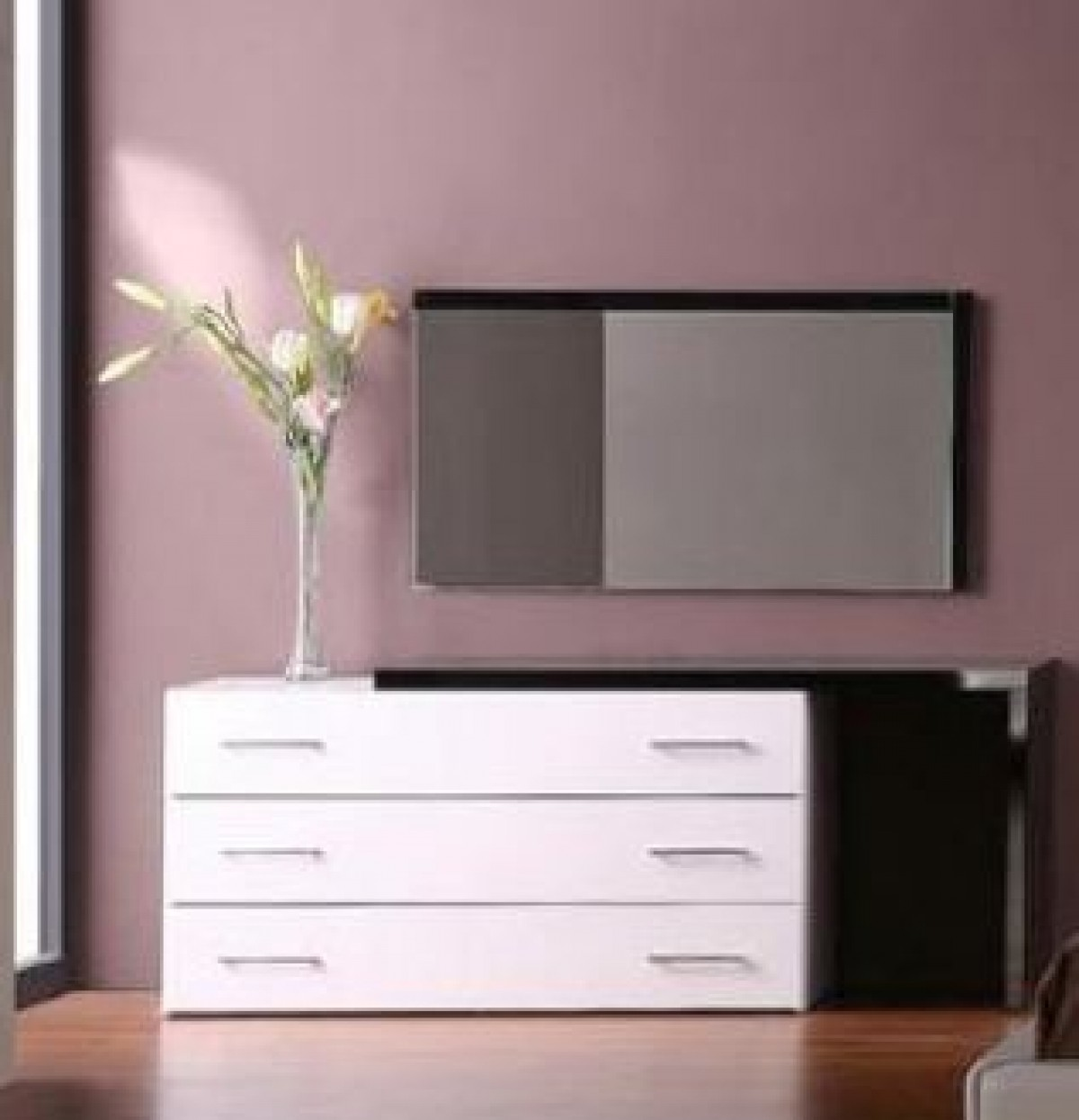 modrest infinity modern black bedroom mirror