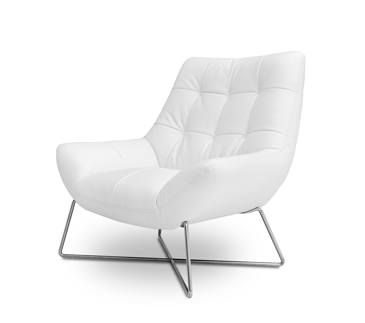 casa istra  modern white occasional chair - divani casa istra  modern white occasional chair
