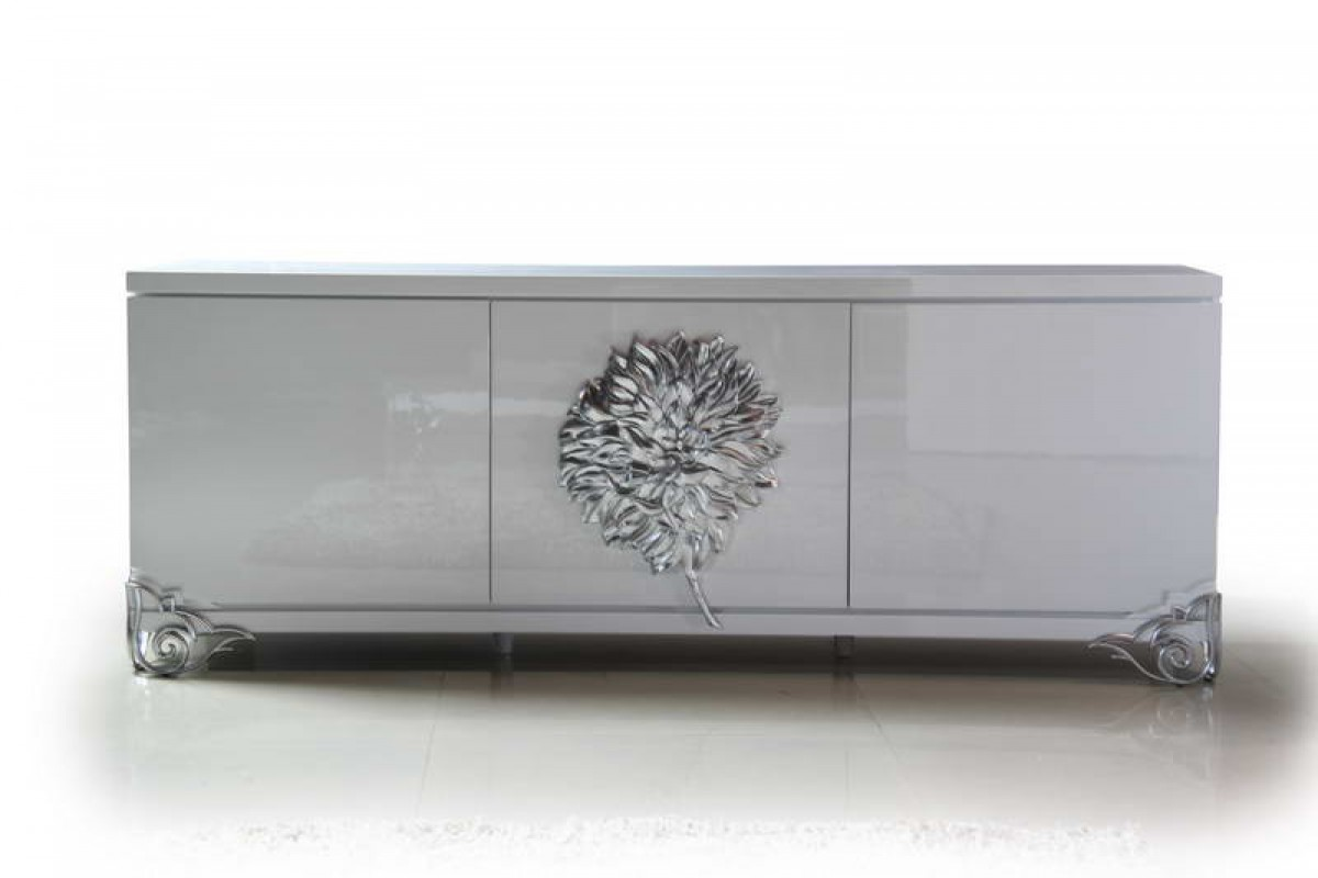 Versus Emma White Lacquer Modern Buffet