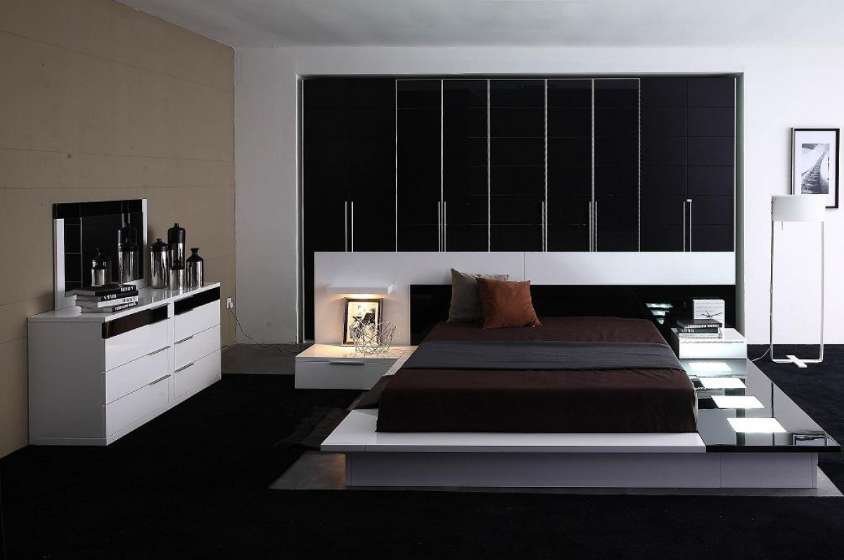 Modern Platform Bedroom Set Modrest Impera Contemporary Lacquer Platform Bed Modern Bedroom