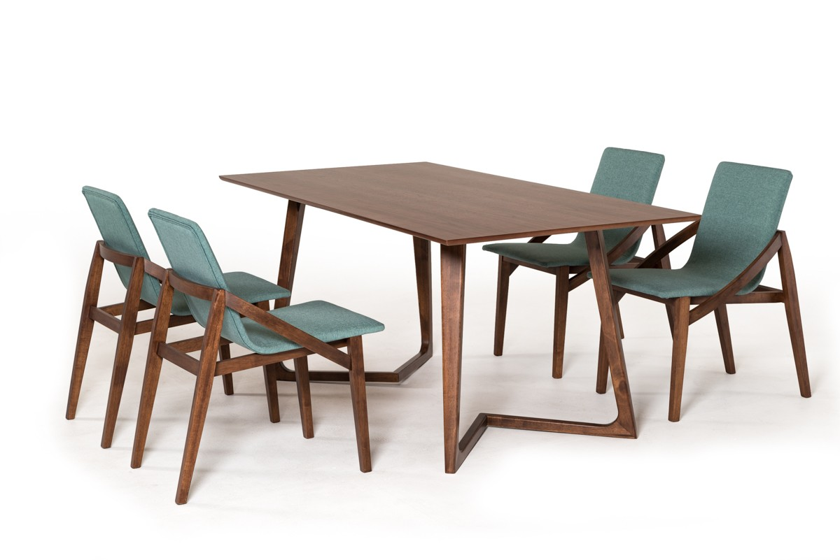 Modrest Jett Contemporary Walnut Dining Table Timeless Collections