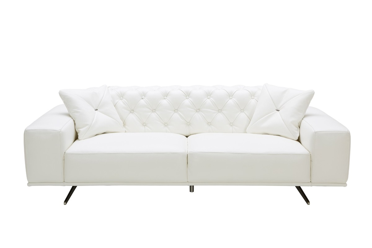 Attirant Divani Casa Bartlett Modern White Leather Sofa