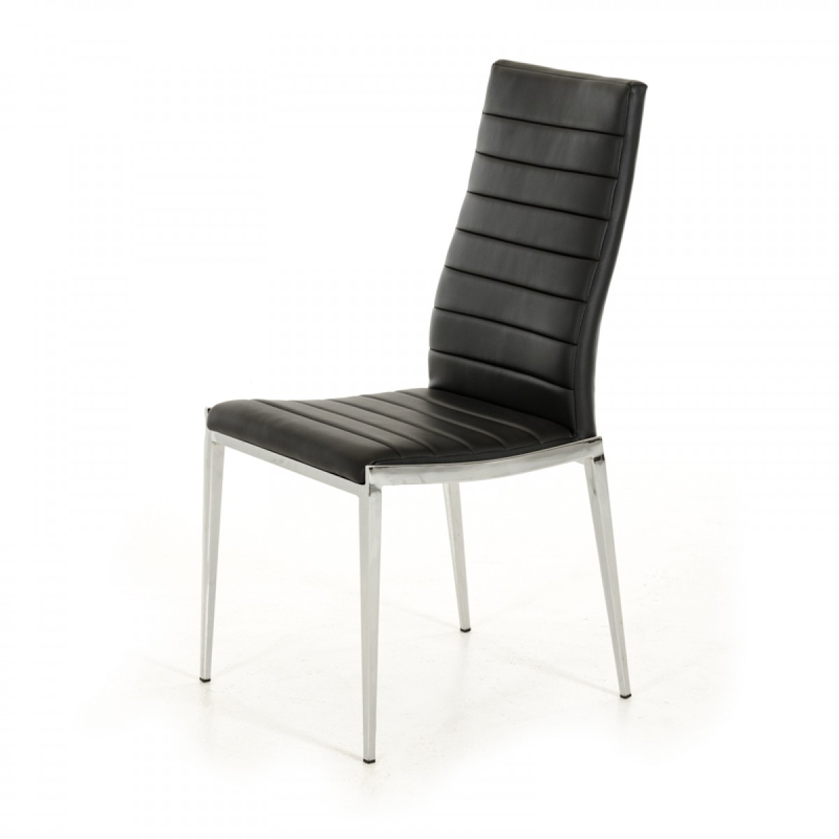Libby Modern Black Leatherette Dining Chair Set Of 2