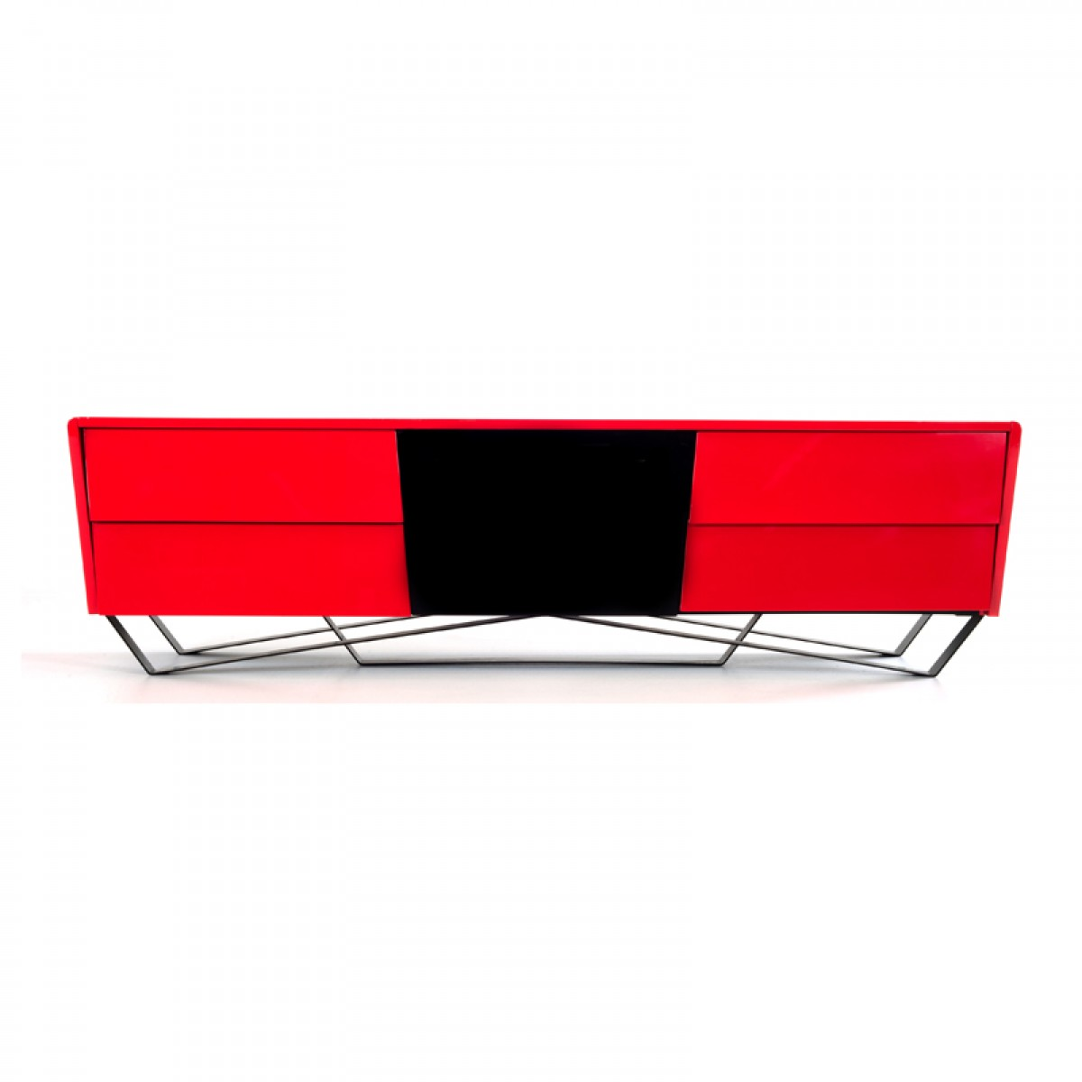 Nova Domus Max Modern Red TV Stand - Entertainment Centers - Living Room