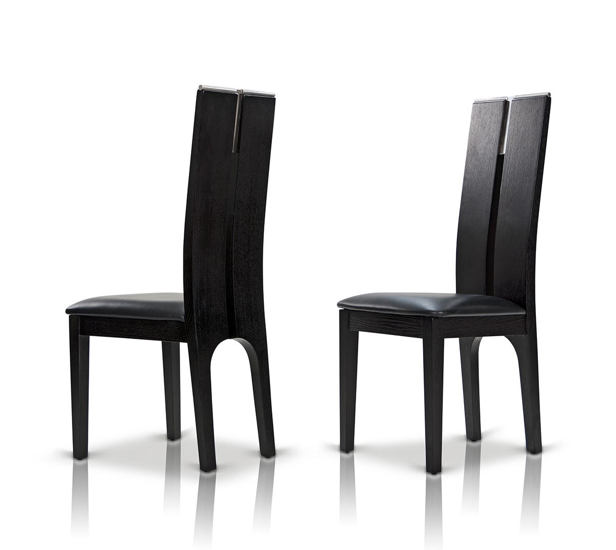 Modrest Maxi Black Oak Dining Chair Set Of 2