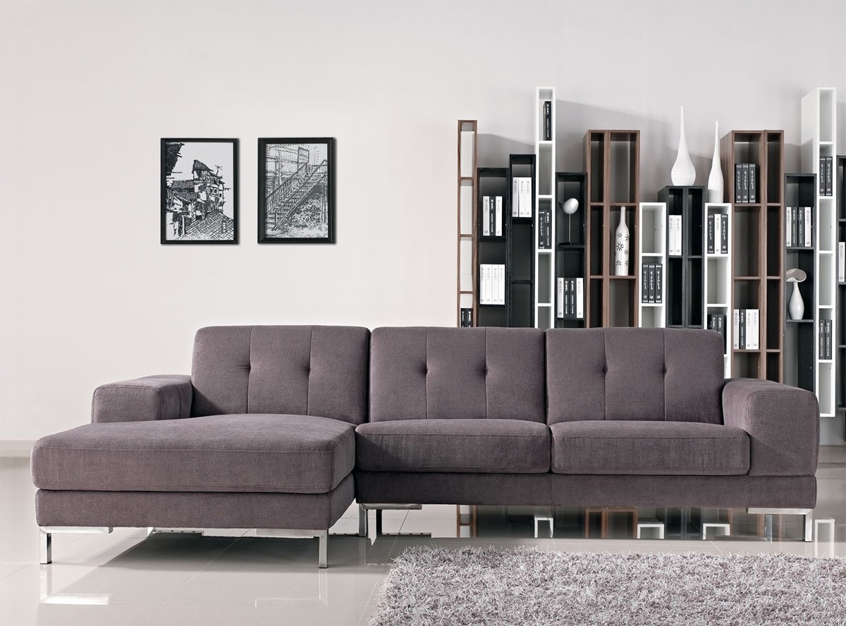 Divani Casa Forli Modern Fabric Sectional Sofa