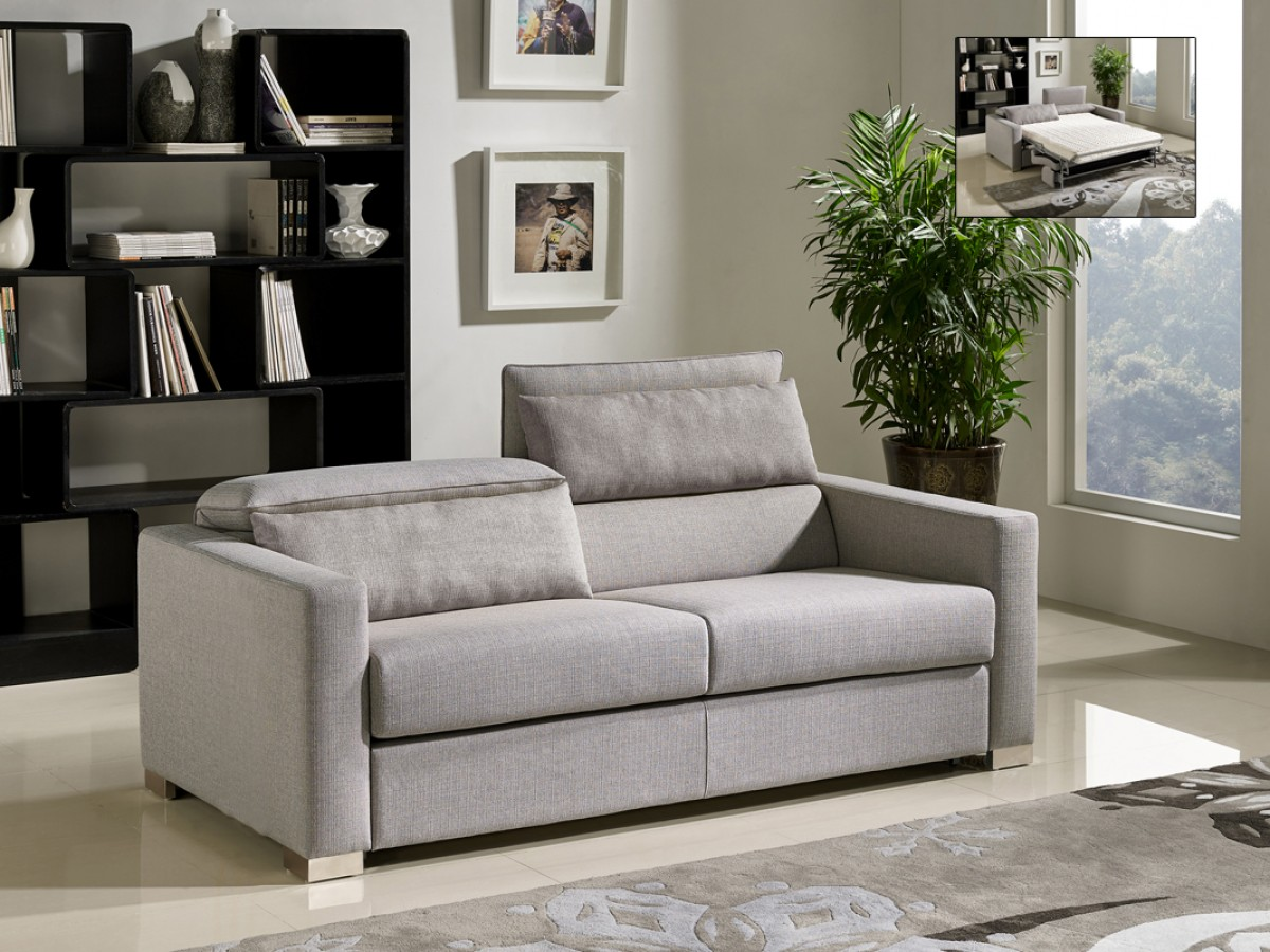 Divani casa norfolk modern grey fabric sofa bed sofa for Divani stoffa moderni