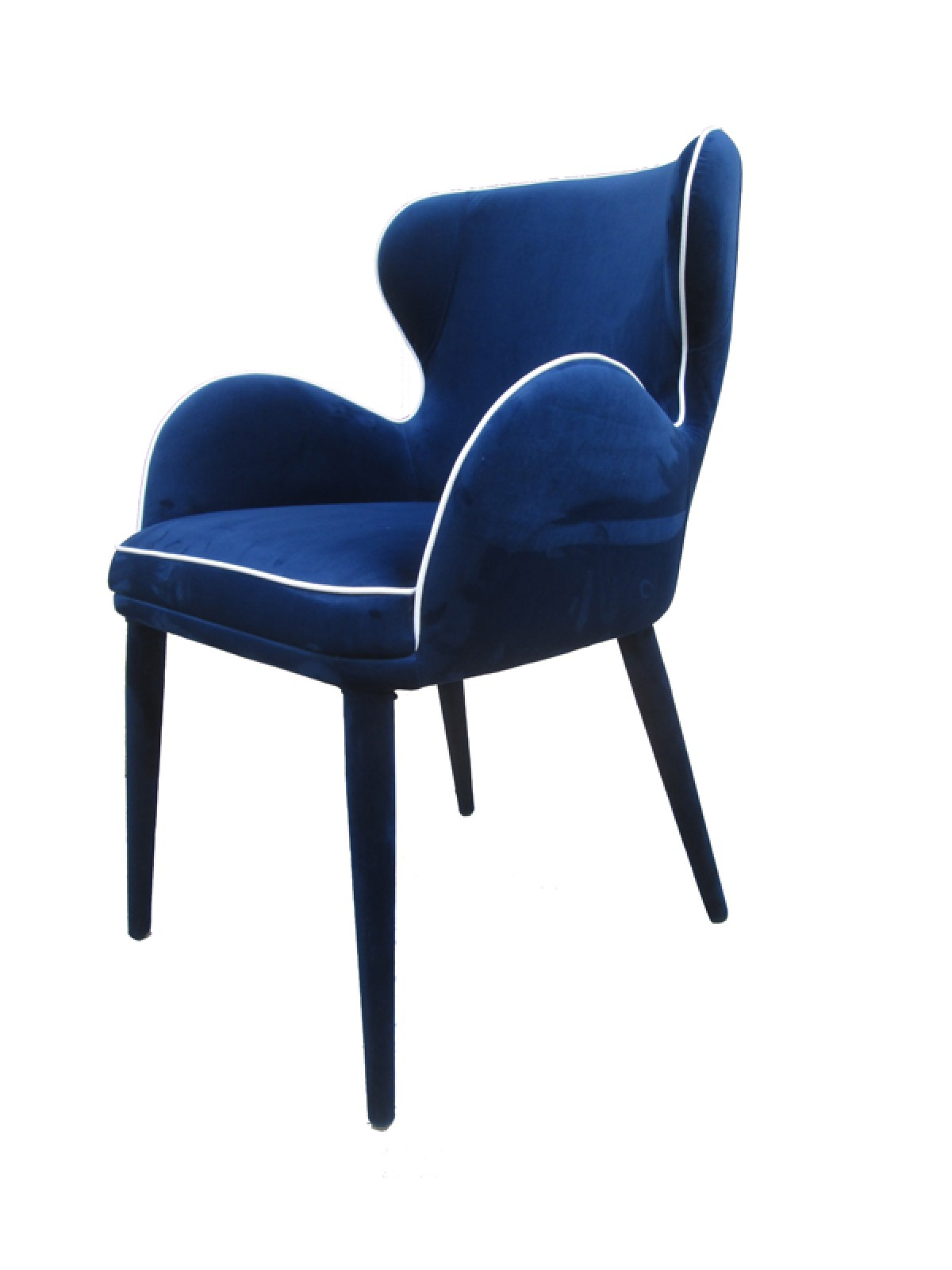 Modrest tigard modern blue fabric dining chair dining for White fabric dining chairs