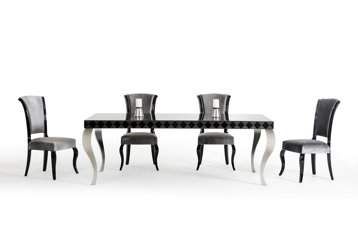 Home Dining Modern Dining Versus Mia Modern Black Lacquer Dining Table