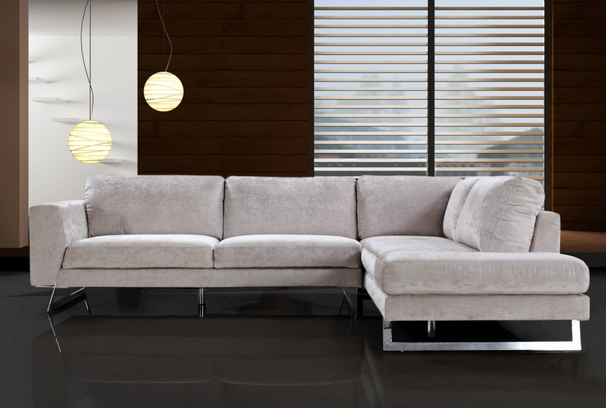 Divani casa milano modern fabric sectional sofa sofas for Contemporary sectional sofas