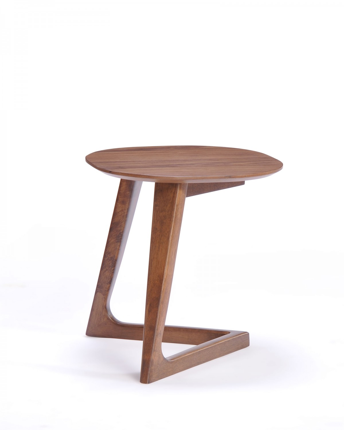 Modrest Jett Modern Walnut End Table - End Tables - Living Room