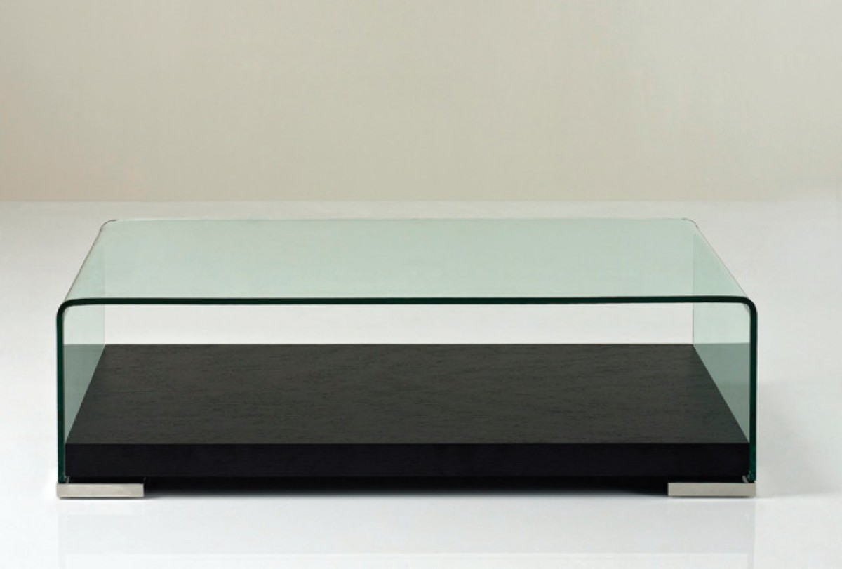 Modrest aquarium modern glass coffee table for Contemporary glass top coffee table