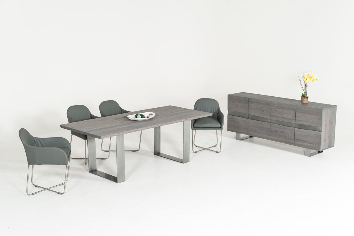 Modrest Murphy U0026 Sweeny Modern Grey Dining Set