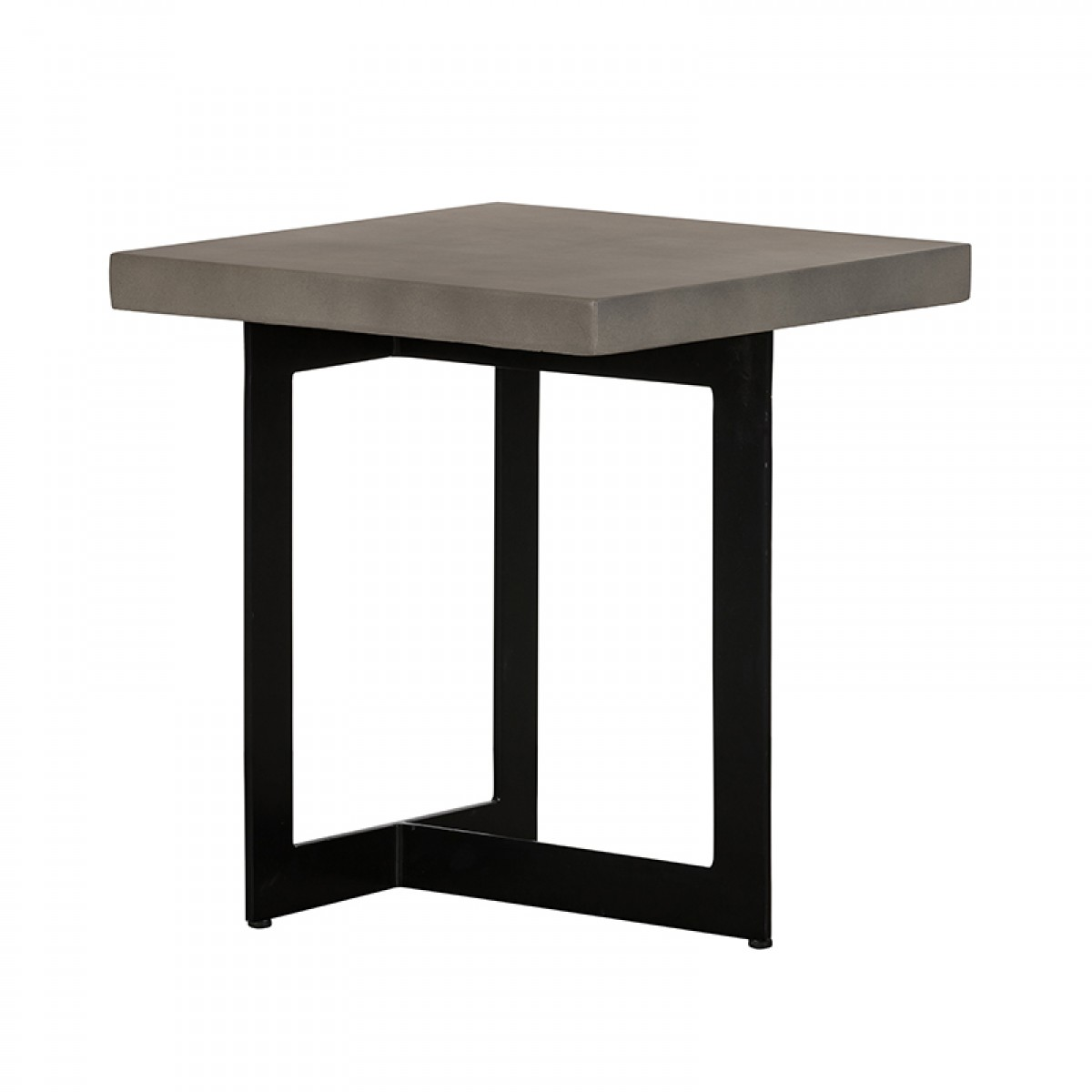 Modrest Sharon Modern Concrete & Black Metal End Table - End ...