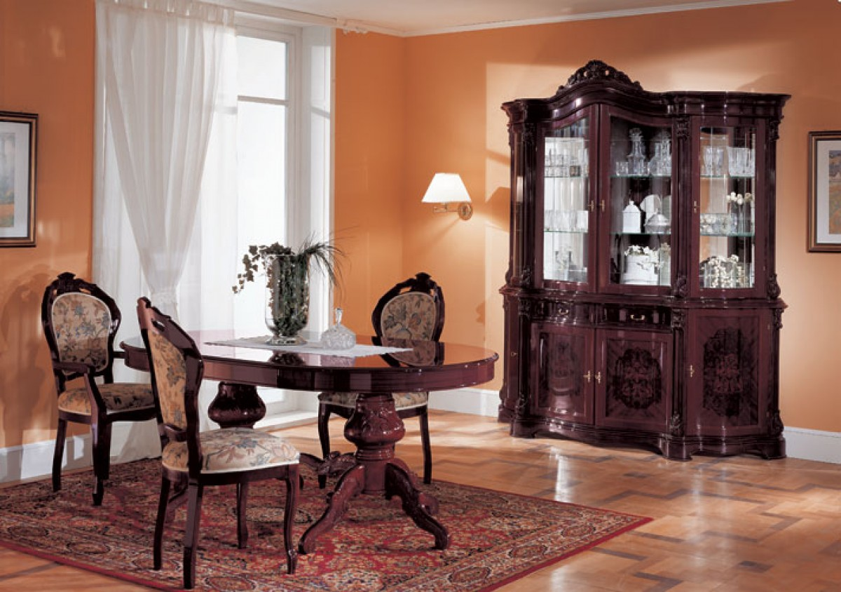 Regina Mahogany Traditional Dining Table ...