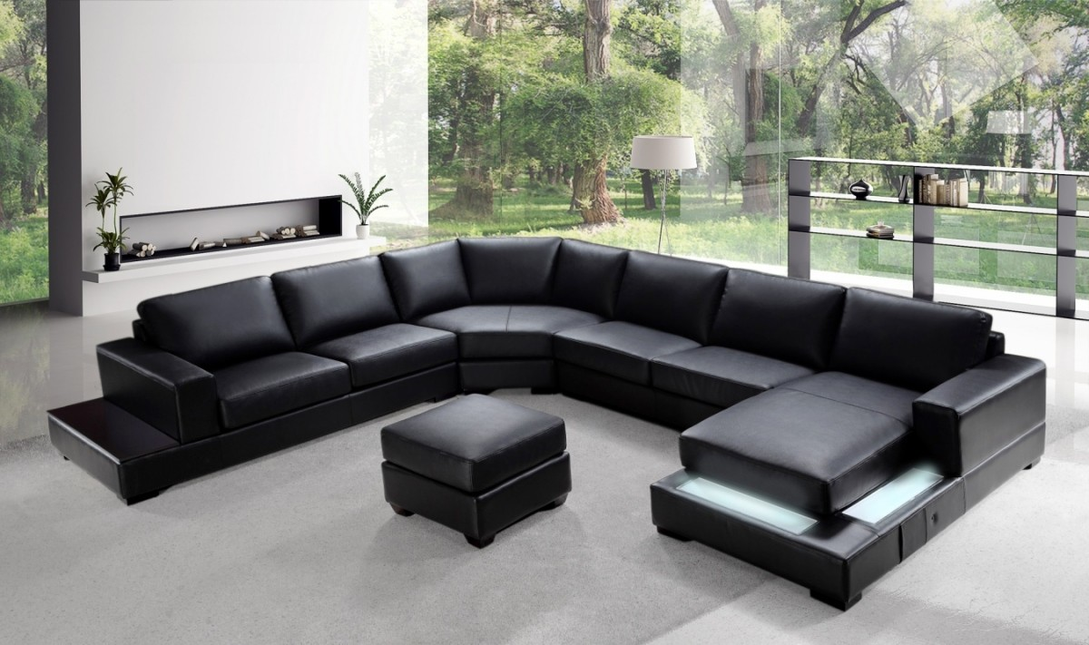 Divani Casa Ritz - Modern Leather Sectional Sofa Set