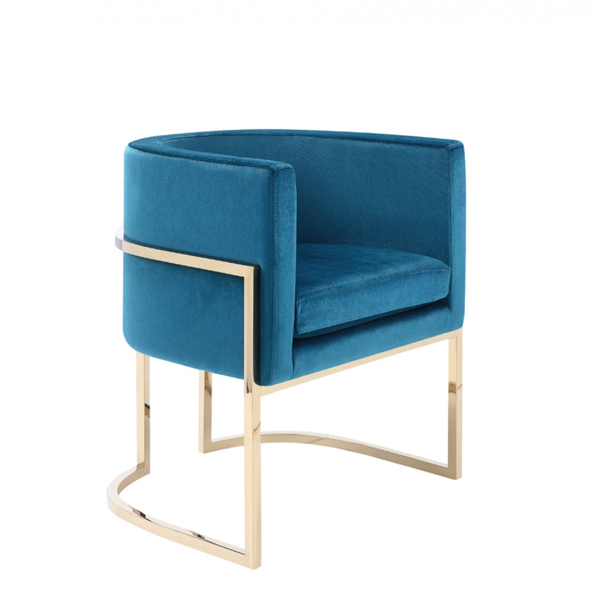 Modrest Betsy Modern Blue Velvet Amp Gold Dining Chair