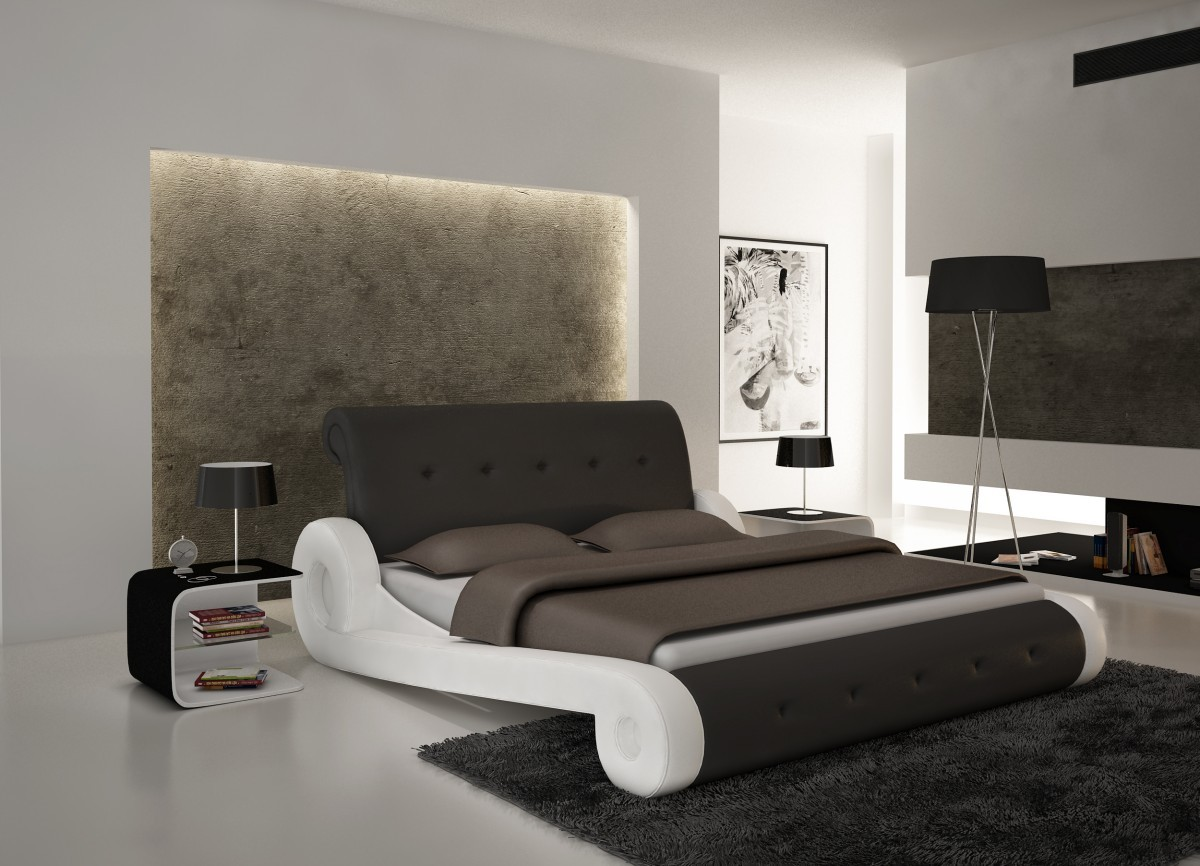 Modrest S610 Contemporary Eco Leather Bed