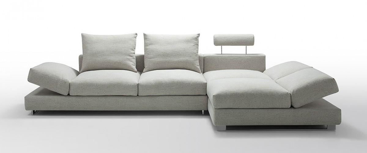 divani casa vasto modern fabric sectional sofa with down feather rh vigfurniture com modern cream fabric sectional sofa modern linen fabric small space sectional sofa with reversible chaise