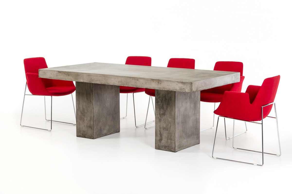 Modrest Saber Modern Concrete Dining Table Modern Dining