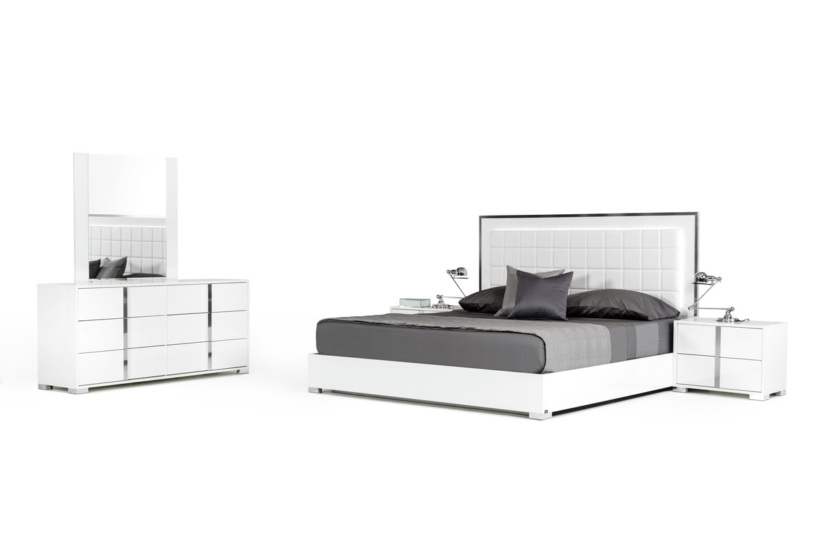 Modrest San Marino Modern White Bedroom Set San Marino White Bedroom Collection Modrest Made In Italy Collections