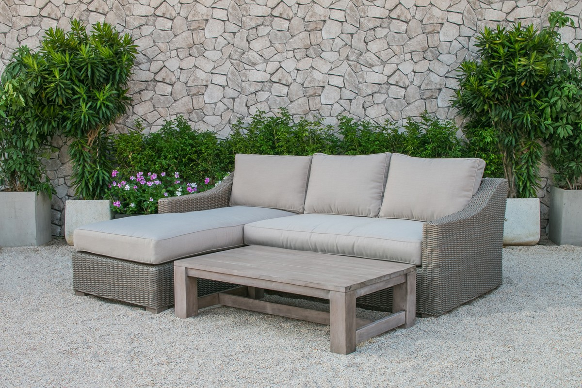 Renava seacliff outdoor wicker sectional sofa set outdoor for Sofa outdoor