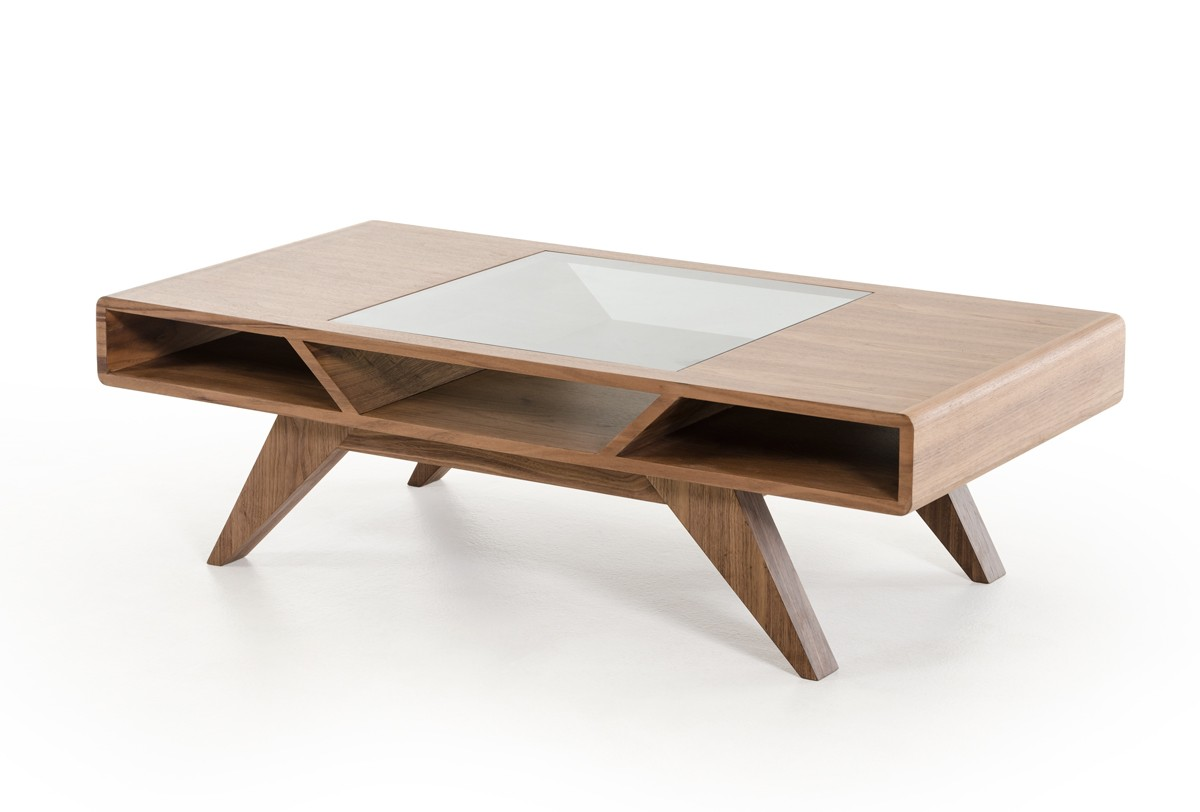 coffee tables from vig furniture - nova domus soria modern walnut coffee table
