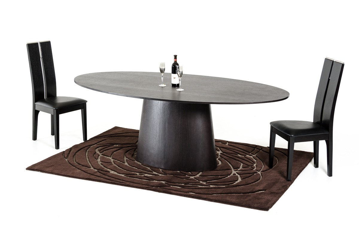Modrest Stepford Modern Wenge Oval Dining Table Modern Dining Dining