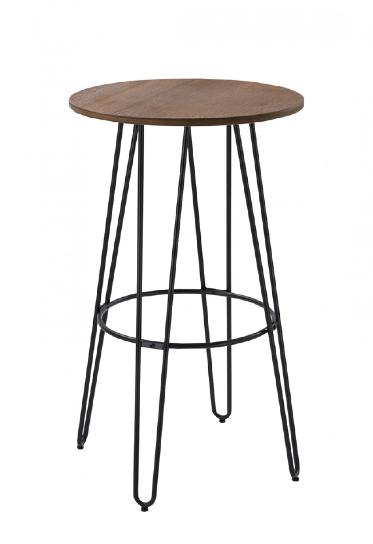Modrest Gelson Modern Round Bamboo Top Bar Table Dining Room Clearance