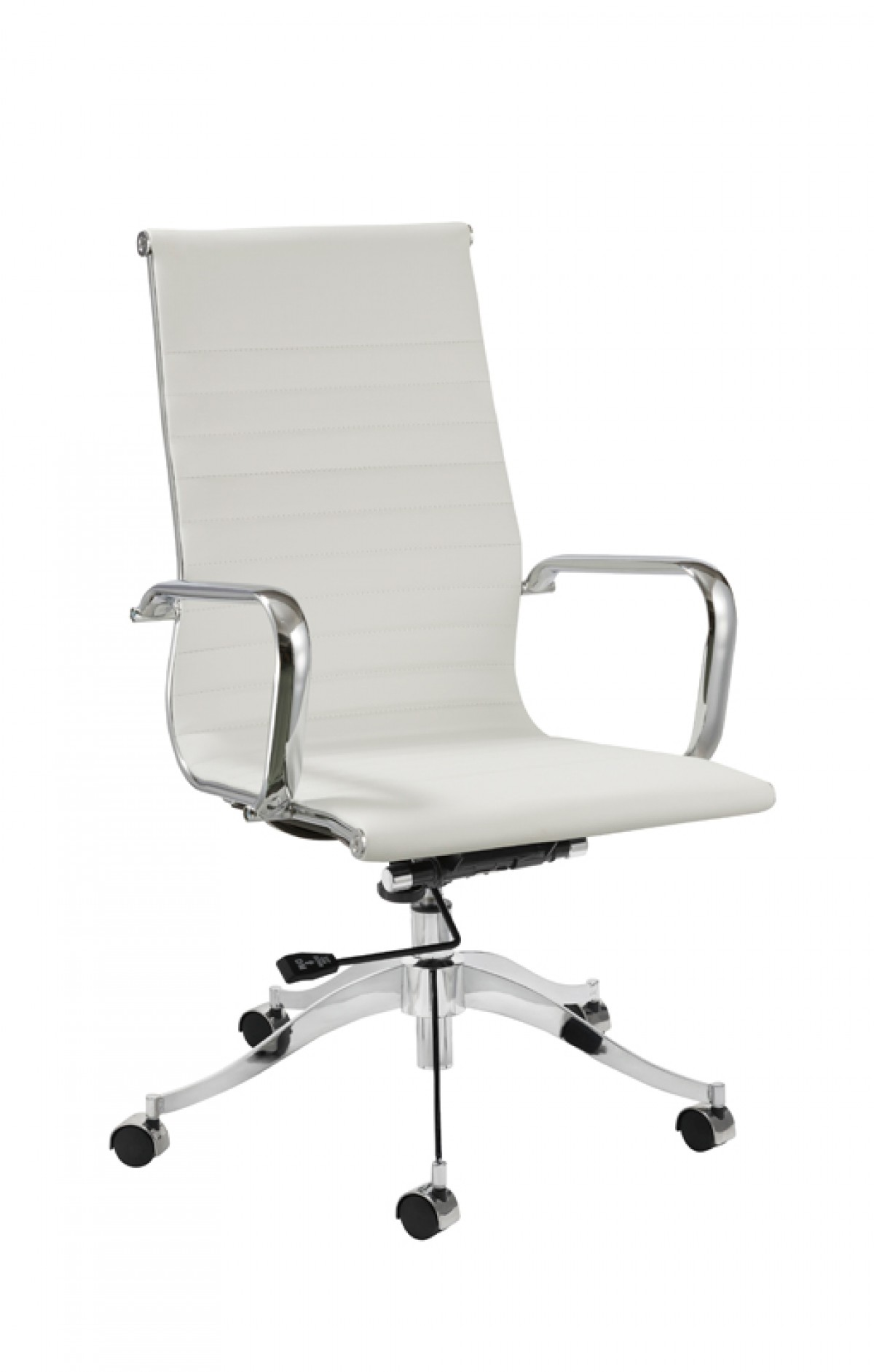 home modrest graham modern white office chair