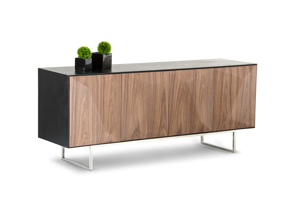 modrest vanguard modern wenge buffet w walnut doors buffets dining. Black Bedroom Furniture Sets. Home Design Ideas